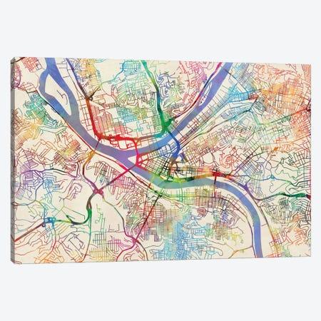 Pittsburgh, Pennsylvania, USA Canvas Print #MTO446} by Michael Tompsett Canvas Artwork