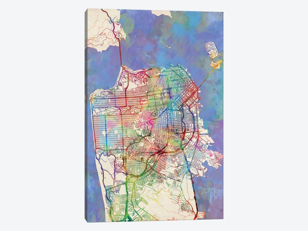 San Francisco, California, USA by Michael Tompsett 1-piece Canvas Art