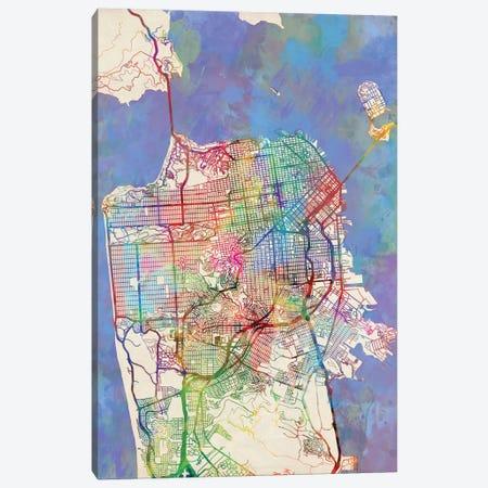 San Francisco, California, USA Canvas Print #MTO448} by Michael Tompsett Art Print
