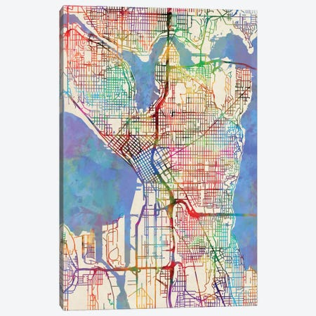 Seattle, Washington, USA Canvas Print #MTO449} by Michael Tompsett Art Print
