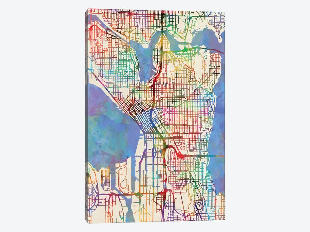 Seattle, Washington, USA by Michael Tompsett 1-piece Canvas Art Print