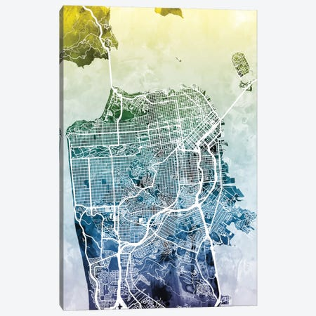 San Francisco, California, USA Canvas Print #MTO44} by Michael Tompsett Canvas Artwork