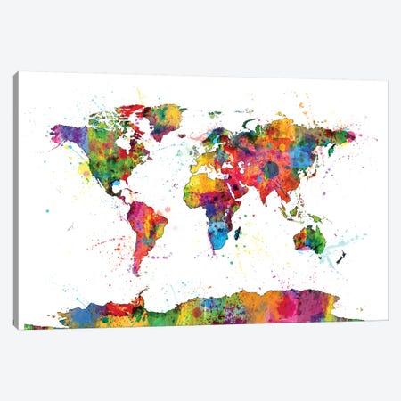 Drops of Color I Canvas Print #MTO454} by Michael Tompsett Canvas Art Print