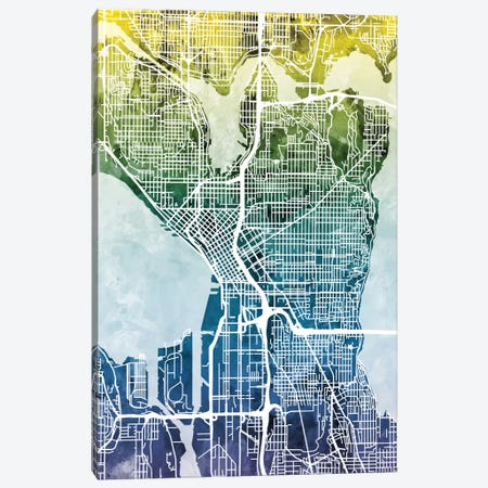 Seattle, Washington, USA Canvas Print #MTO45} by Michael Tompsett Canvas Artwork