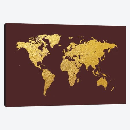 Gold Foil On Cordovan Canvas Print #MTO462} by Michael Tompsett Art Print