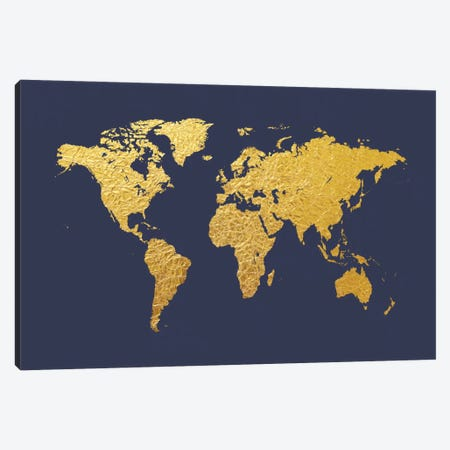 Gold Foil On Denim Canvas Print #MTO463} by Michael Tompsett Canvas Art Print