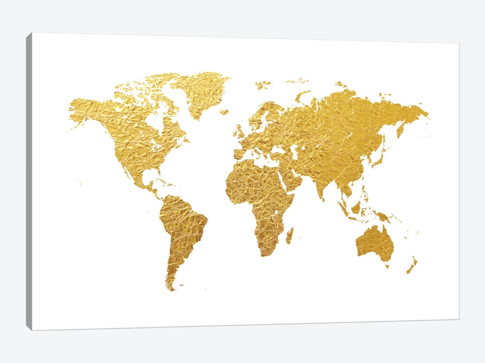Gold Foil On White 1-piece Art Print