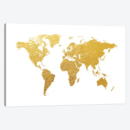 Gold Foil On White Canvas Print #MTO465} by Michael Tompsett Canvas Art