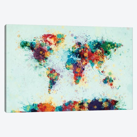 Splashes Of Color I Canvas Print #MTO477} by Michael Tompsett Canvas Art Print