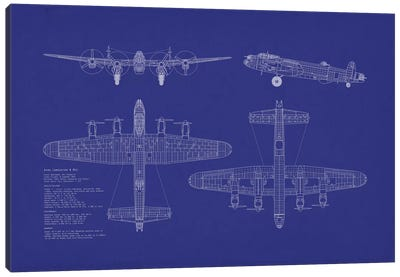 Avro Lancaster B Mk.I Blueprint Canvas Art Print