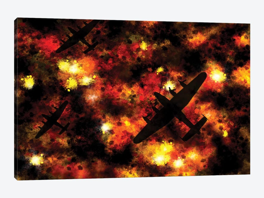Night Raid by Michael Tompsett 1-piece Canvas Art Print