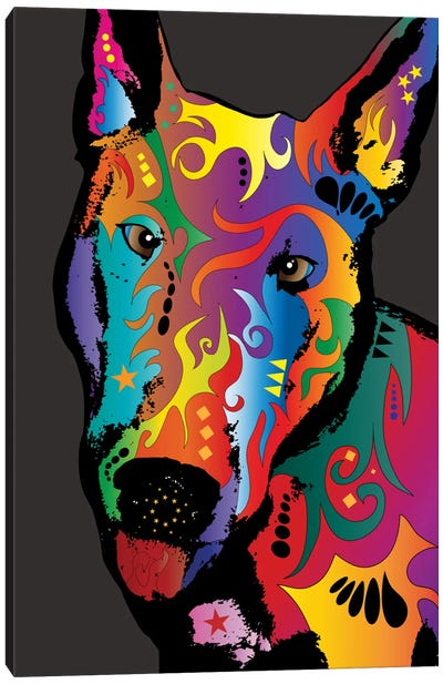 Rainbow Bull Terrier Canvas Art Print