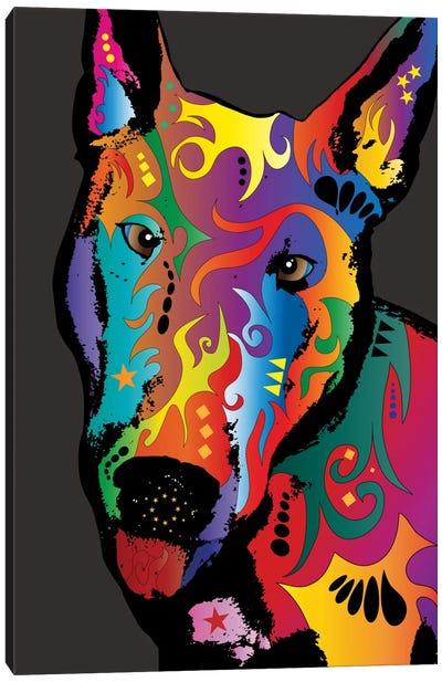 Rainbow Bull Terrier Canvas Art Print