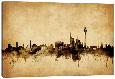Foxed (Retro) Skyline Series: Berlin, Germany Canvas Print #MTO48
