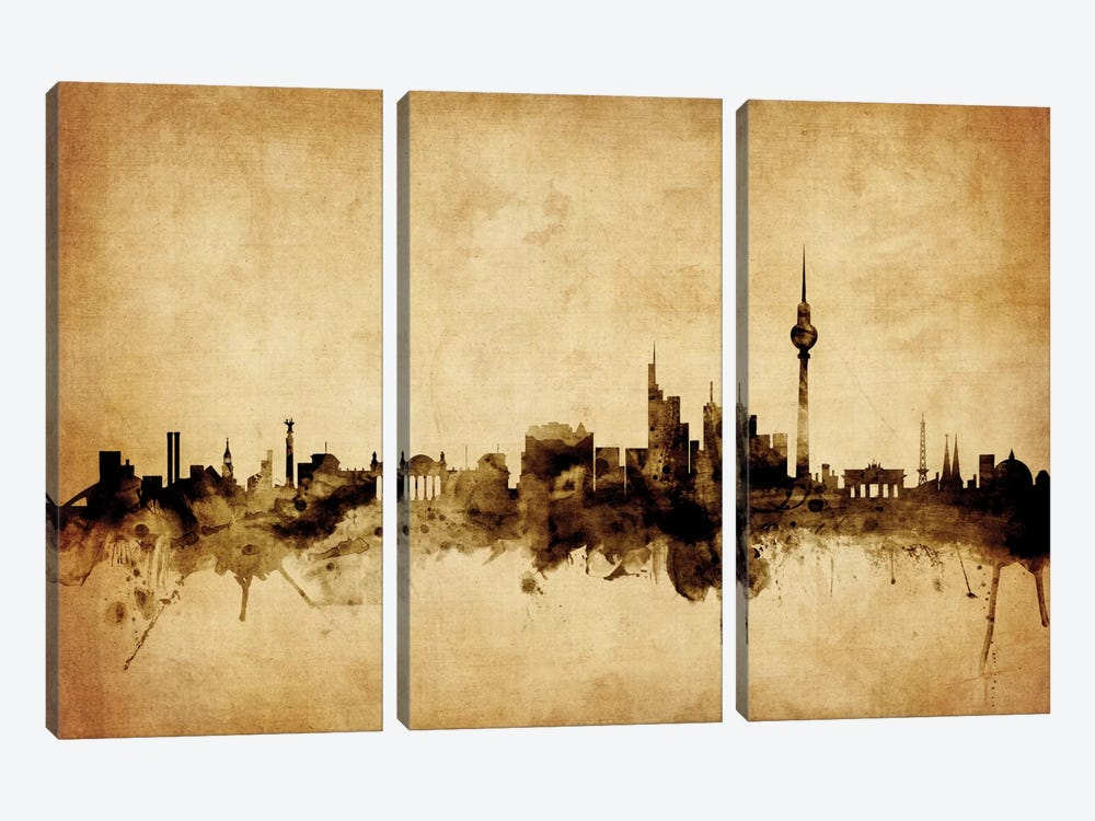 Berlin, Germany by Michael Tompsett 3-piece Canvas Art Print