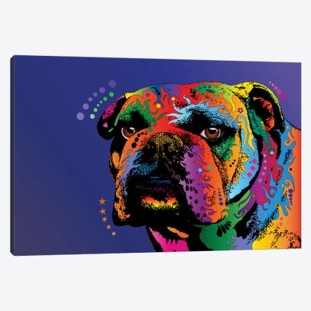Rainbow Bulldog Canvas Print #MTO490} by Michael Tompsett Canvas Wall Art