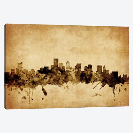 Boston, Massachusetts, USA Canvas Print #MTO49} by Michael Tompsett Art Print