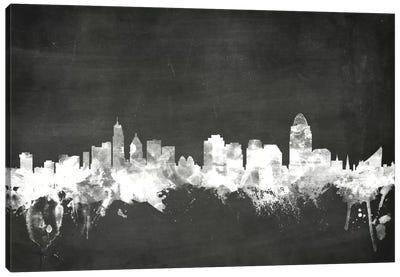 Blackboard Skyline Series: Cincinnati, Ohio, USA Canvas Print #MTO4