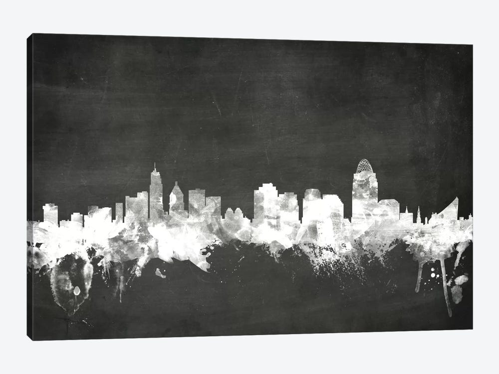 Cincinnati, Ohio, USA by Michael Tompsett 1-piece Canvas Print
