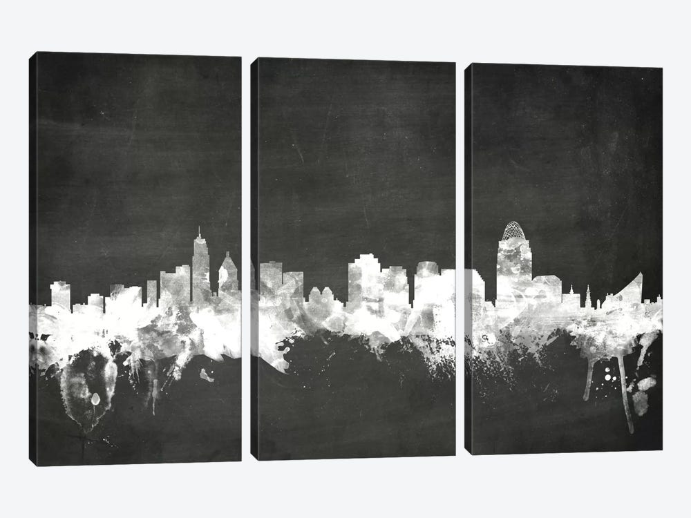 Cincinnati, Ohio, USA by Michael Tompsett 3-piece Canvas Print