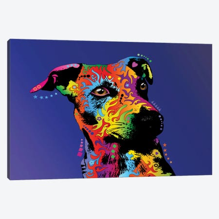 Rainbow Jack Russell Terrier Canvas Print #MTO500} by Michael Tompsett Canvas Art