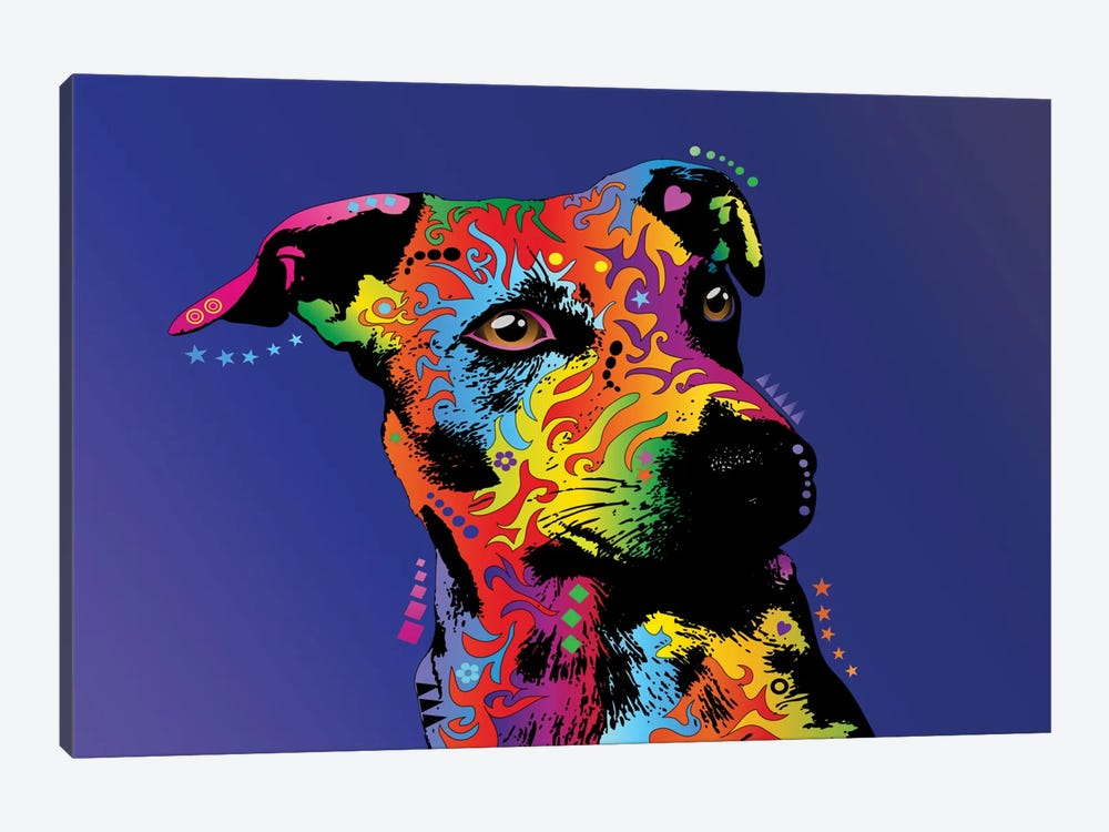 Rainbow Jack Russell Terrier by Michael Tompsett 1-piece Art Print
