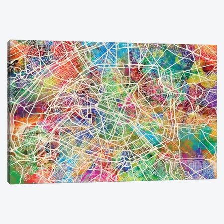 Paris, France Street Map Canvas Print #MTO515} by Michael Tompsett Canvas Art