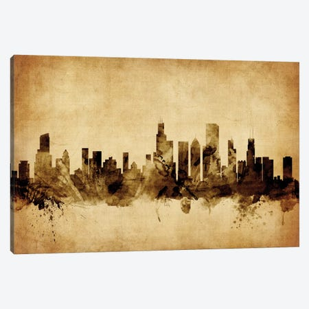 Chicago, Illinois, USA Canvas Print #MTO51} by Michael Tompsett Canvas Wall Art