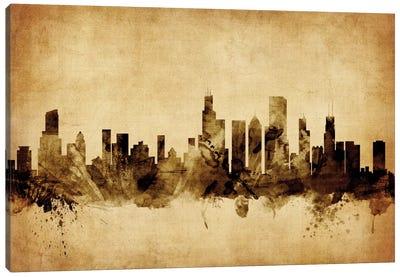 Foxed (Retro) Skyline Series: Chicago, Illinois, USA Canvas Print #MTO51