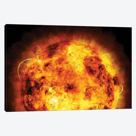 The Sun Canvas Print #MTO520} by Michael Tompsett Canvas Artwork