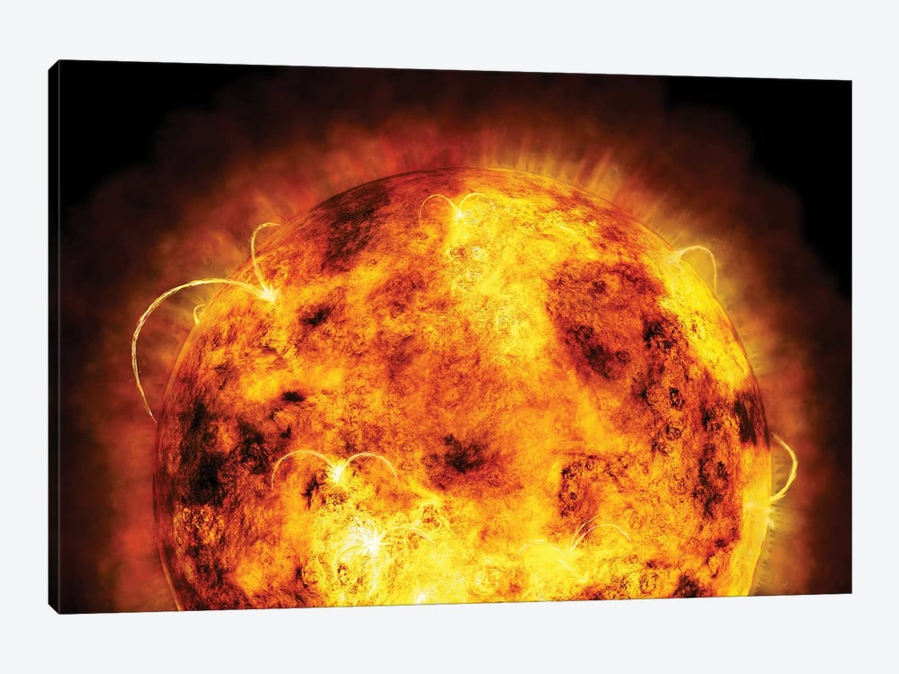The Sun by Michael Tompsett 1-piece Art Print