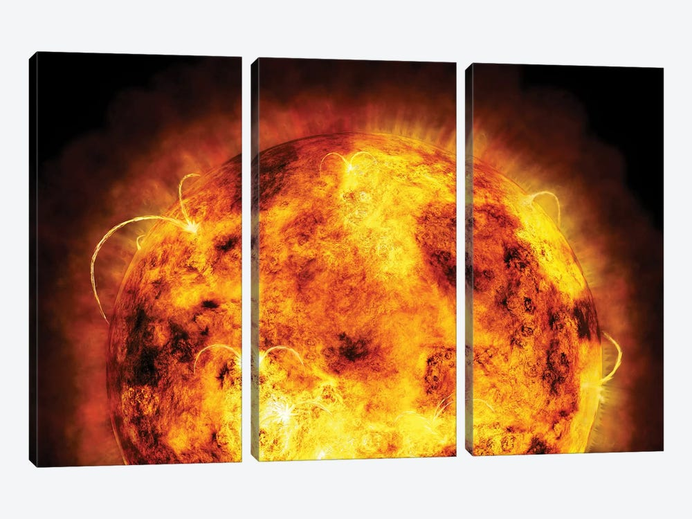 The Sun by Michael Tompsett 3-piece Art Print