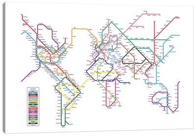 World Metro Tube Map Canvas Art Print