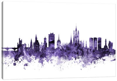 Aberdeen, Scotland Skyline Canvas Art Print