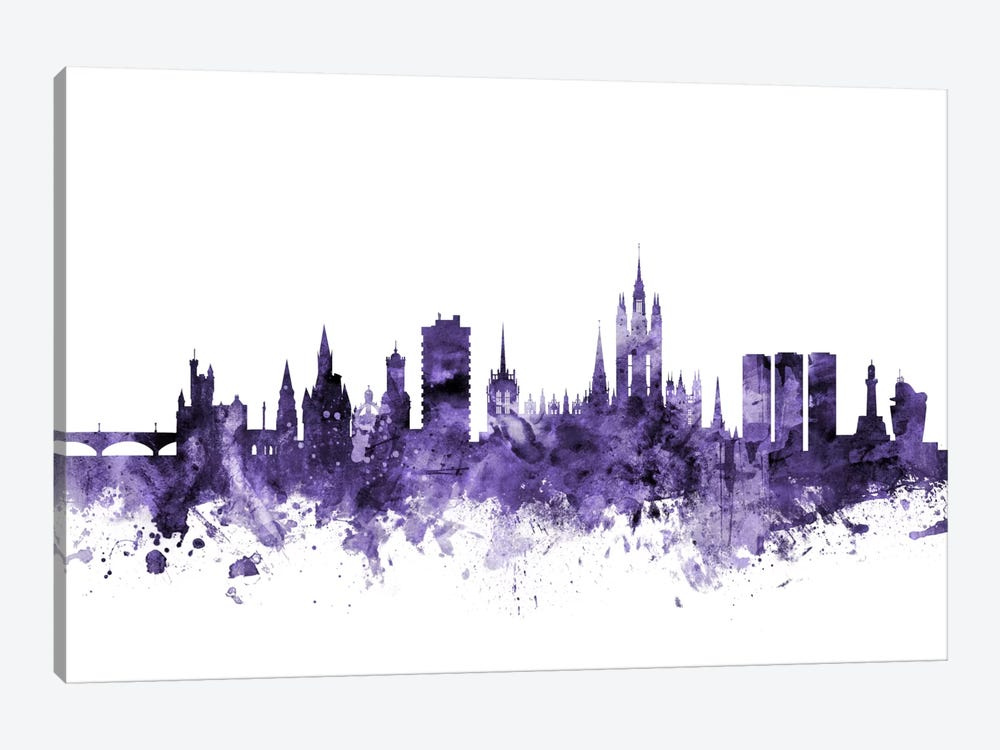 Aberdeen, Scotland Skyline by Michael Tompsett 1-piece Canvas Wall Art