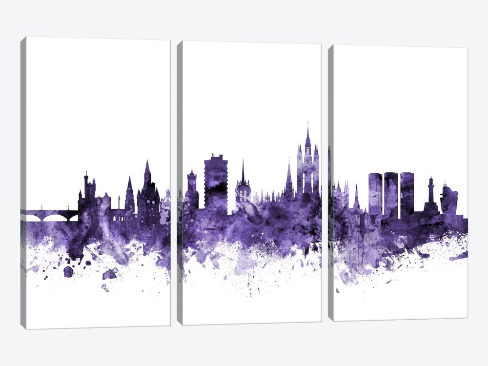 Aberdeen, Scotland Skyline by Michael Tompsett 3-piece Canvas Art