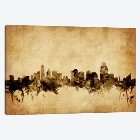 Cincinnati, Ohio, USA Canvas Print #MTO52} by Michael Tompsett Canvas Artwork