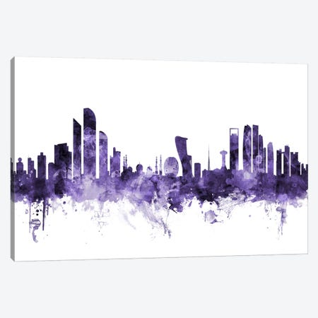 Abu Dhabi Skyline Canvas Print #MTO530} by Michael Tompsett Canvas Print