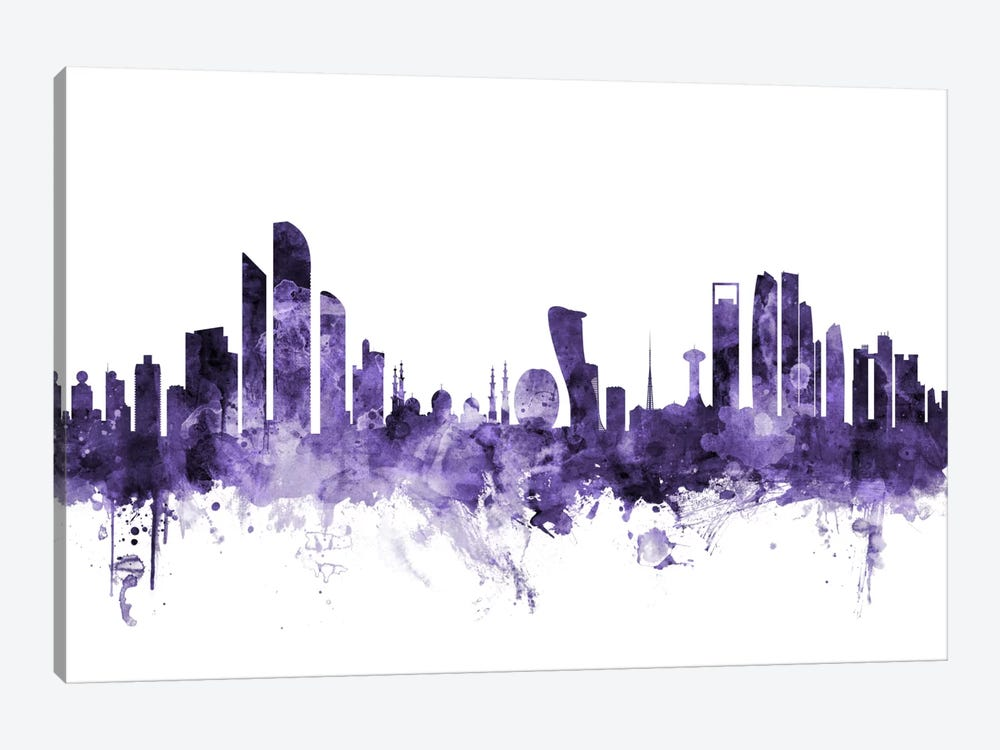 Abu Dhabi, UAE Skyline by Michael Tompsett 1-piece Canvas Wall Art