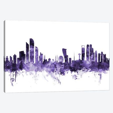 Abu Dhabi, UAE Skyline Canvas Print #MTO530} by Michael Tompsett Canvas Print