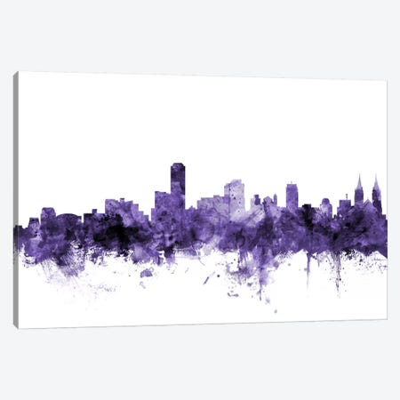 Adelaide, Australia Skyline Canvas Print #MTO531} by Michael Tompsett Canvas Print
