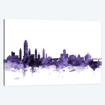 Albany, New York Skyline Canvas Print #MTO532} by Michael Tompsett Canvas Print