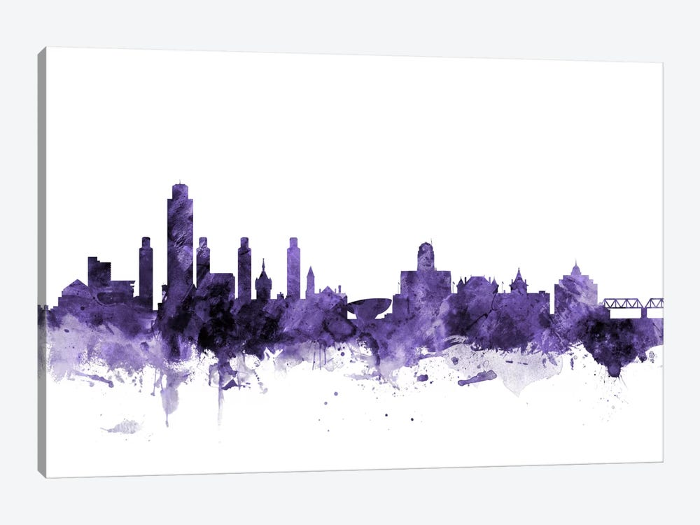 Albany, New York Skyline by Michael Tompsett 1-piece Canvas Artwork
