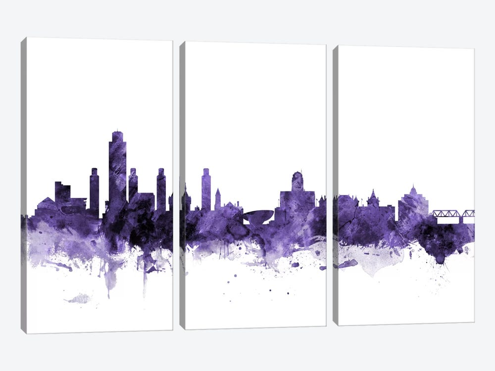 Albany, New York Skyline by Michael Tompsett 3-piece Canvas Wall Art
