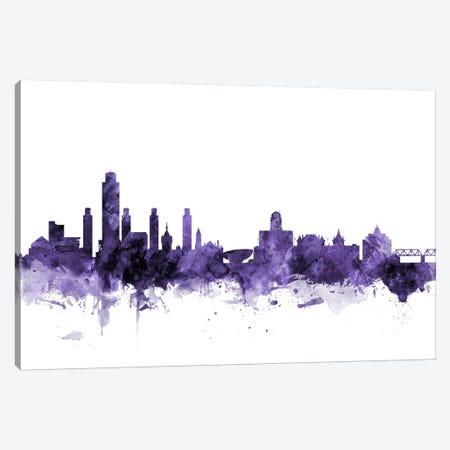 Albany, New York Skyline Canvas Print #MTO532} by Michael Tompsett Canvas Print