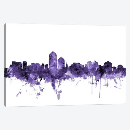 Albuquerque, New Mexico Skyline Canvas Print #MTO533} by Michael Tompsett Canvas Print