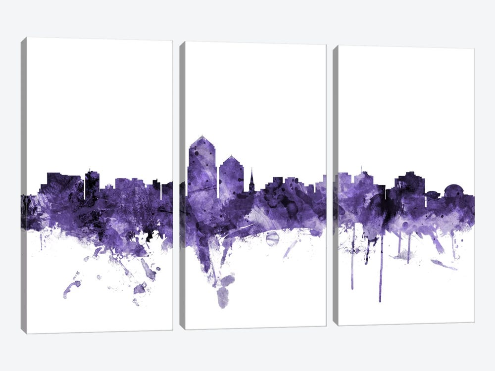 Albuquerque, New Mexico Skyline by Michael Tompsett 3-piece Canvas Art Print