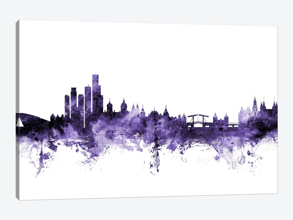 Amsterdam, The Netherlands Skyline by Michael Tompsett 1-piece Canvas Artwork