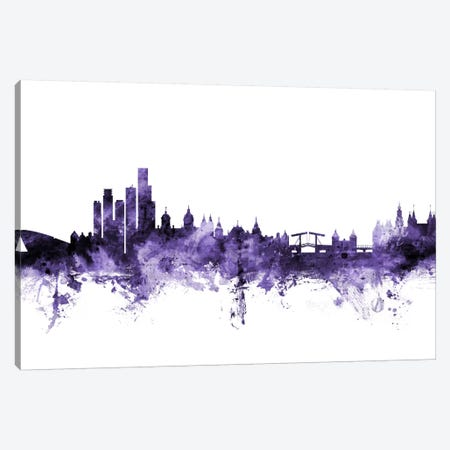 Amsterdam, The Netherlands Skyline Canvas Print #MTO534} by Michael Tompsett Canvas Wall Art