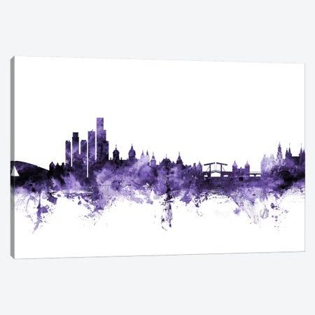 Amsterdam, The Netherlands Skyline Canvas Print #MTO534} by Michael Tompsett Canvas Wall Art